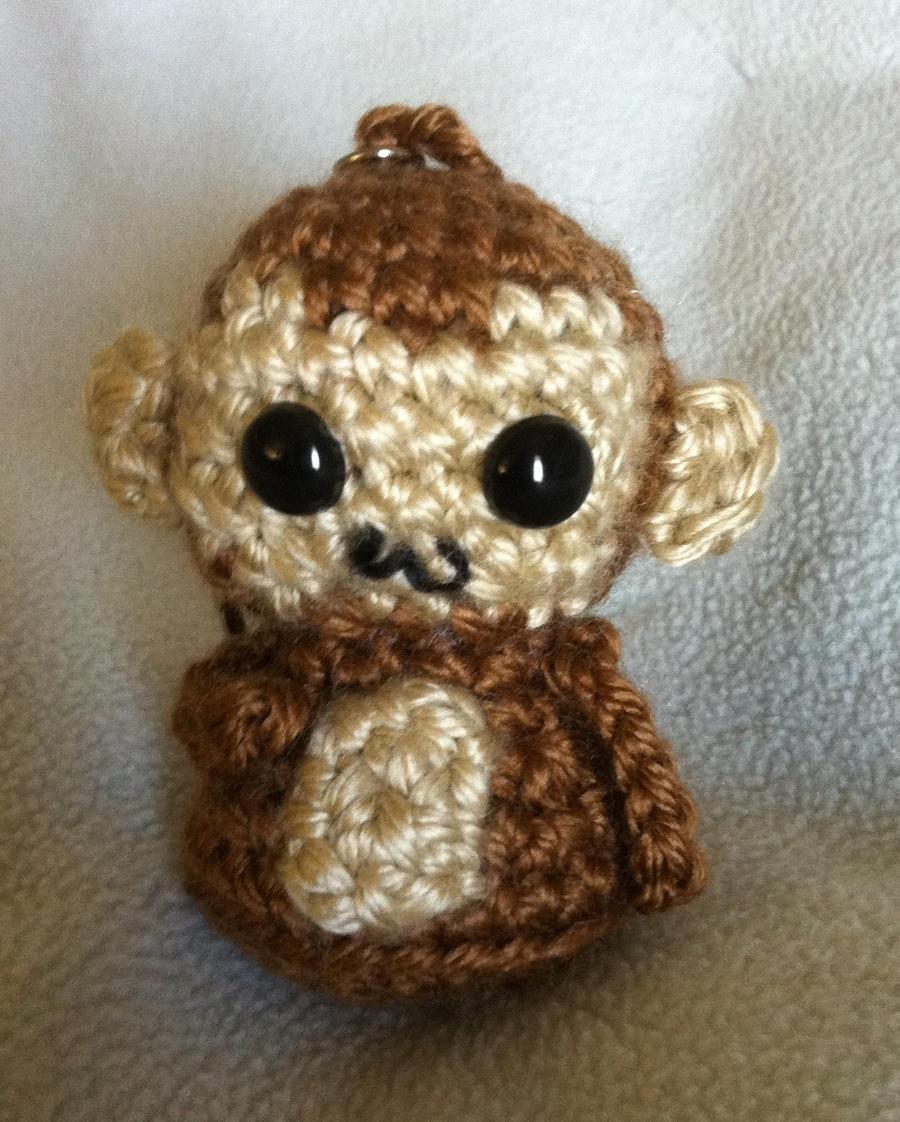 Amigurumi Monkey Keychain : Small monkey keychain by Aidou on DeviantArt