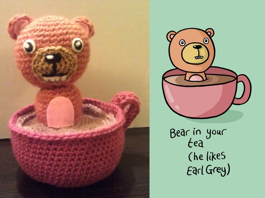 Bear in your Tea - Crochet version by KaniKaniza
