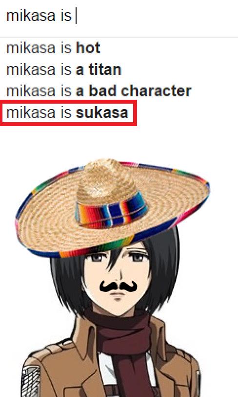 Aot mikasa es su casa by attackontitanmemes on deviantart for Mikasa es su casa