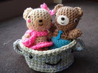 Small Amigurumi Bear Set by Elmira-san