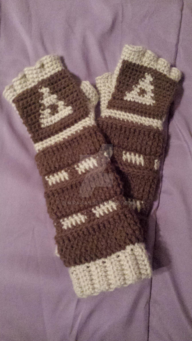 Crochet Link Gauntlets: Ocarina of Time Style by Elmira-san