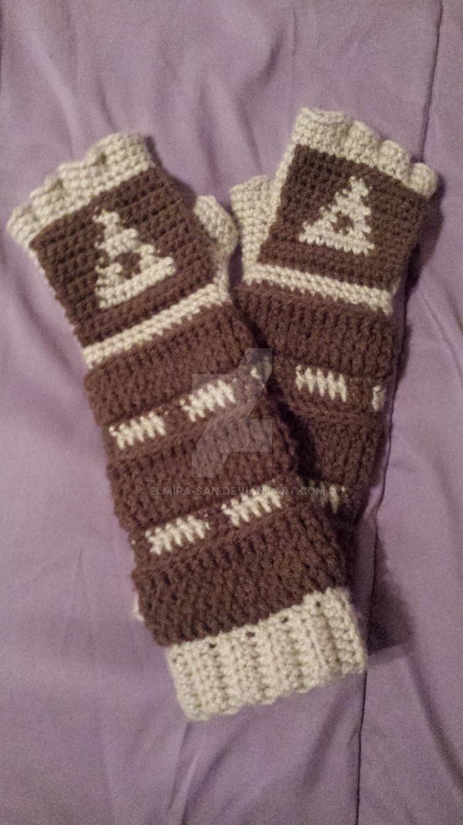 Crochet Link Gauntlets: Ocarina of Time Style by Elmira-san