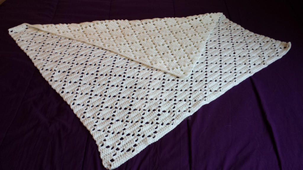 Filet Crochet Diamond Baby Blanket By Elmira San On Deviantart