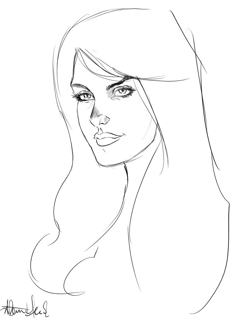 Female Head 1 by Lonewolf898