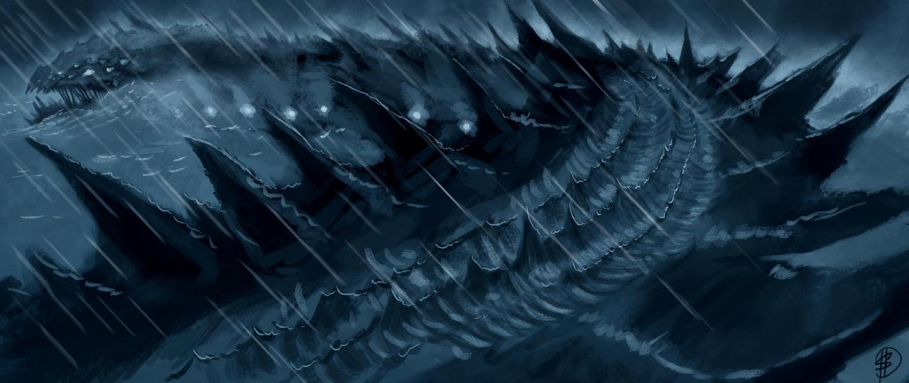 Water Serpent by Lonewolf898