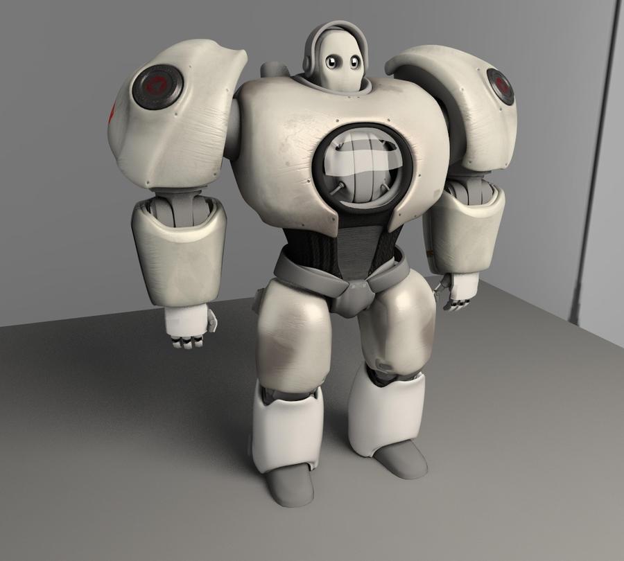 Mr ROBOT teilweise angezogen