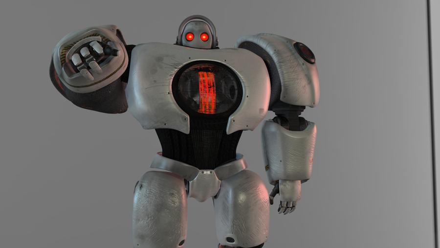 Robot says hello