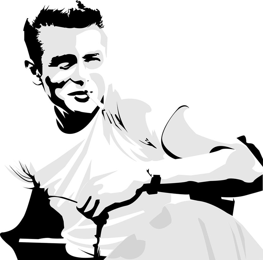 james dean black and white painting - photo #22