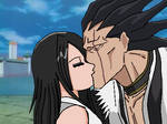 Zaraki Kenpachi x Sayuri Aizen kiss OC Bleach