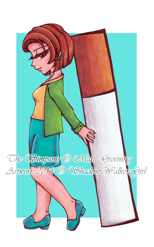 The Simpsons : Edna Krabappel by ShadowWalkerGirl