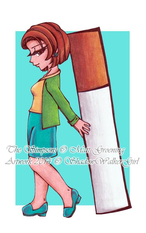The Simpsons : Edna Krabappel by ShadowWalkerGirl