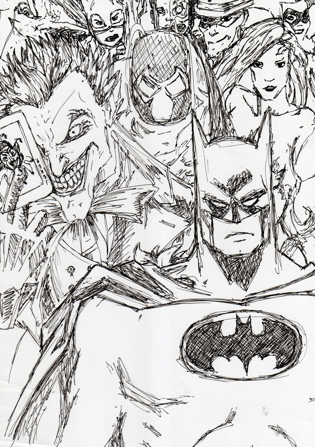 Batman and Villains by NadAlei