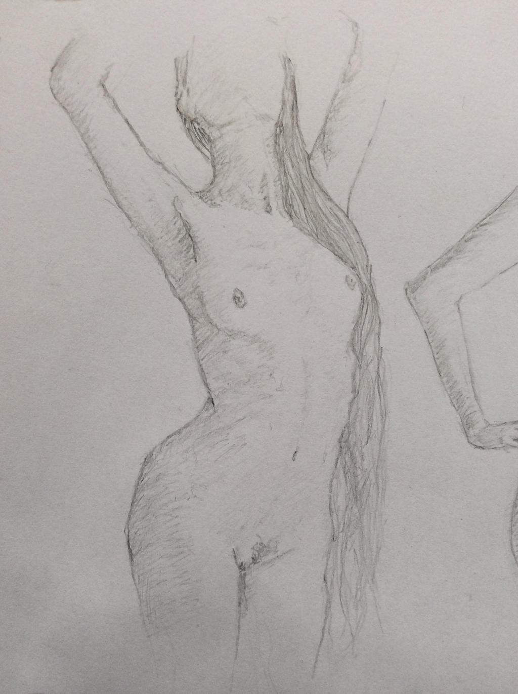 Female Nude #1 by NadAlei