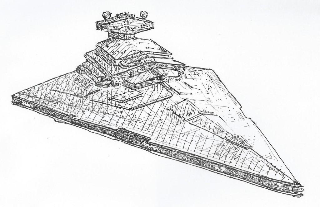 Imperial Destroyer. by NadAlei