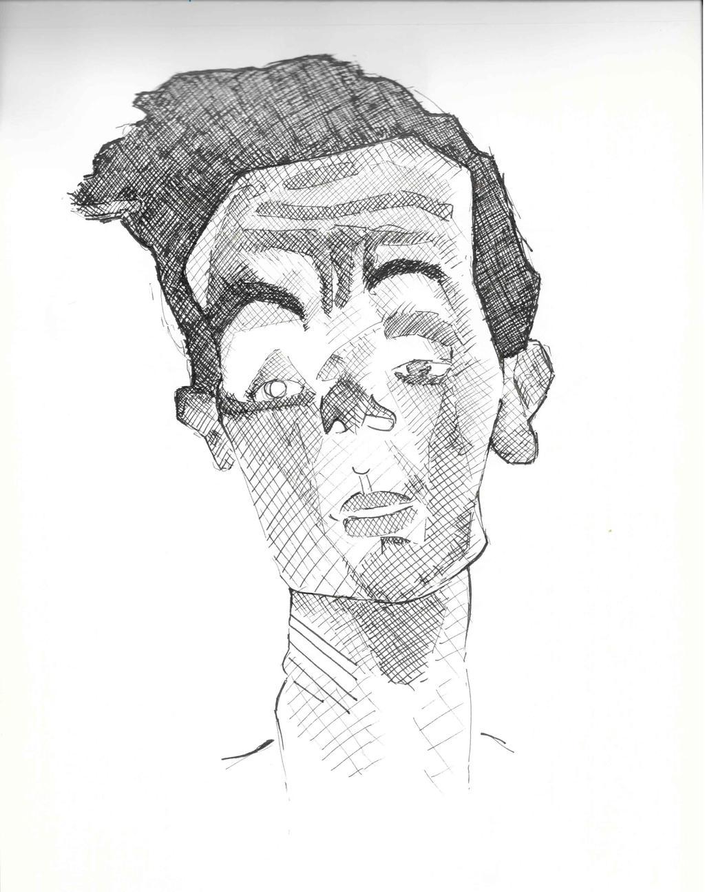 Portrait Of Schiele (detail). by NadAlei