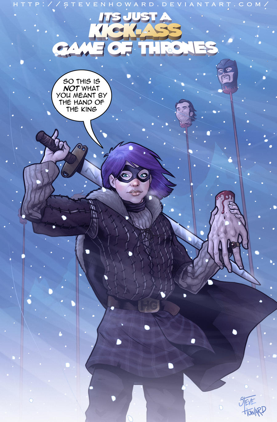 Tliid 108 Hit Girl as Arya Stark by StevenHoward
