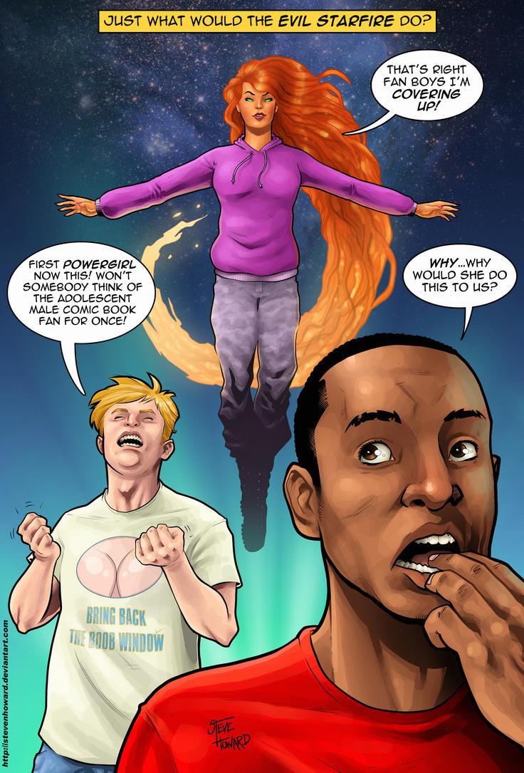 week 127 Eeeeeeevil Starfire! by StevenHoward