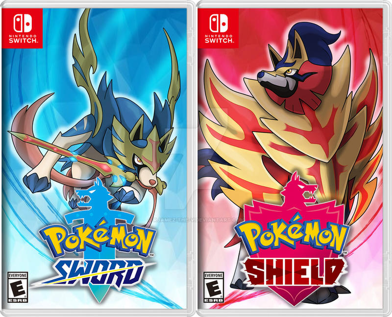 Pokemon Sword And Shield Cover Rendition By Rjamez The V On Deviantart