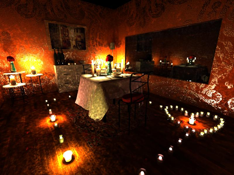 Candle Light Dinner Room 3D Modelling by meoong on DeviantArt