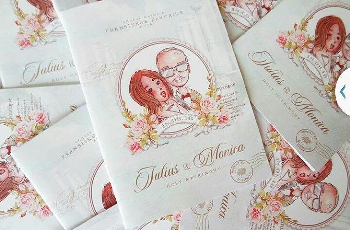 Julius Monica Wedding Illustration by meoong