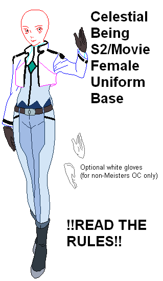 Celestial Being Uniform Base by SwordOfTheFlame12