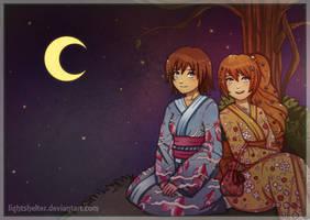Commission Crea and Sanagi by lightshelter