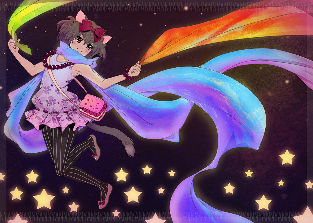 Nyancat Girl by lightshelter