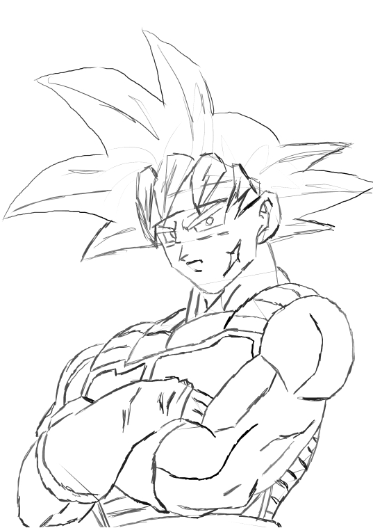 Bardock Super Sayain 10 - Free Colouring Pages