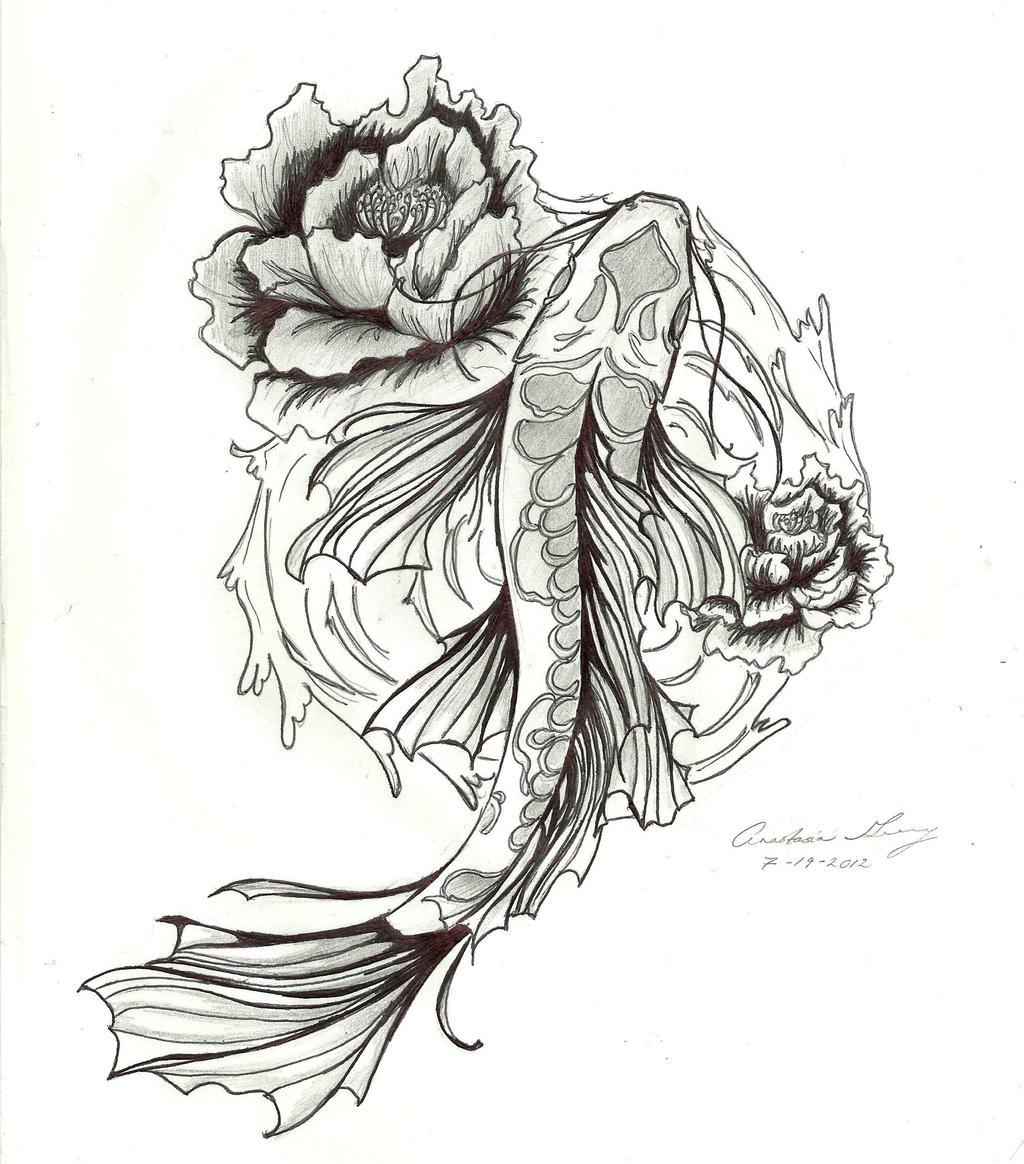 Tattoo Drawings: Koi Tattoohelenasaurus
