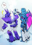 Cyclonus and Scourge from Earth Wars
