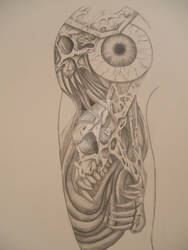 Bio Mech Tattoo 1
