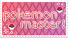 Pokemon MASTER stamp by icedfoxes