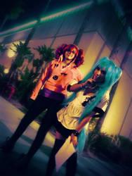 Kasane Teto and Hatsune Miku by Yufi09