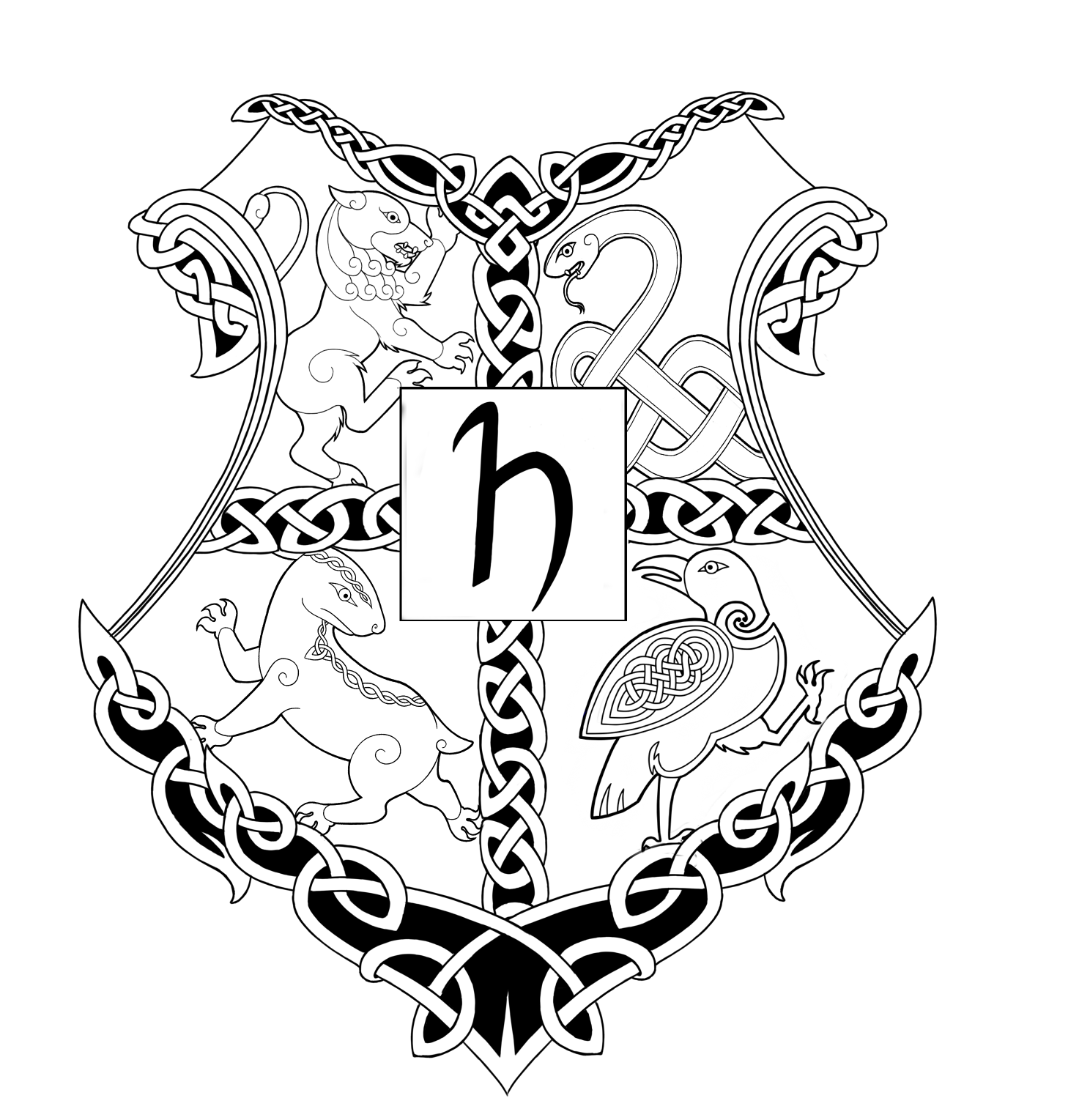 Celtic Hogwarts Logo by SassyWelshGiraffe on DeviantArt