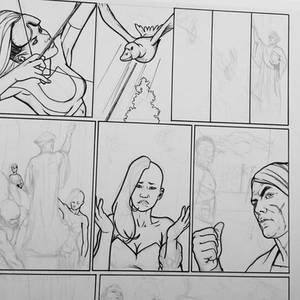 Page in inking process