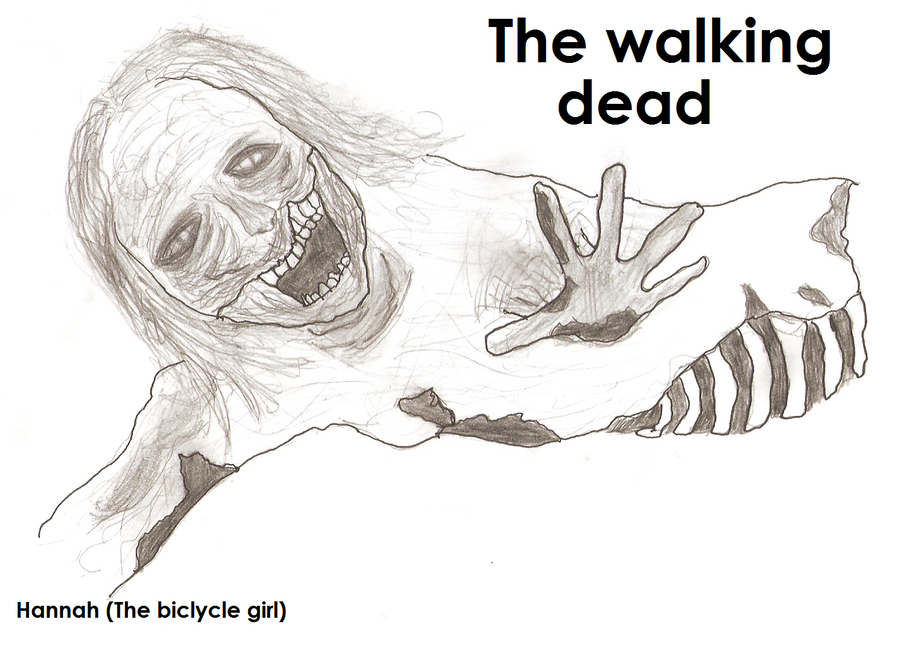 """The Walking Dead (dibujo """"the Bicycle Girl"""""""