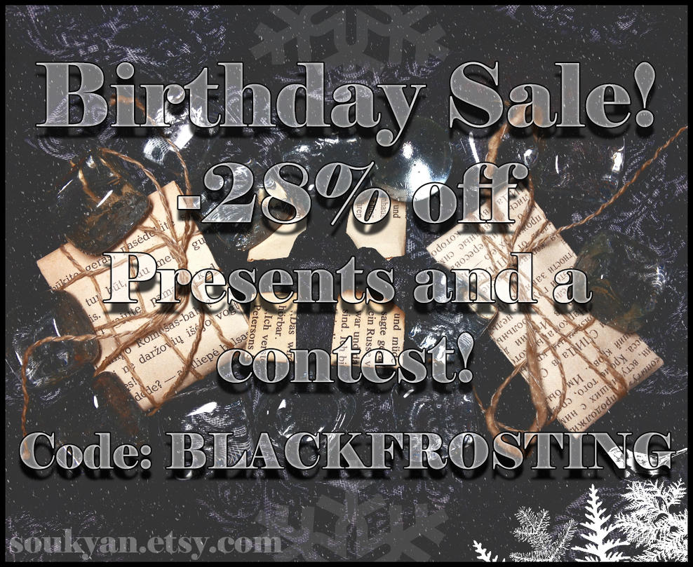 BIRTHDAY SALE!! by Soukyan