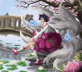 Dynasty Ahri by ninjathespian