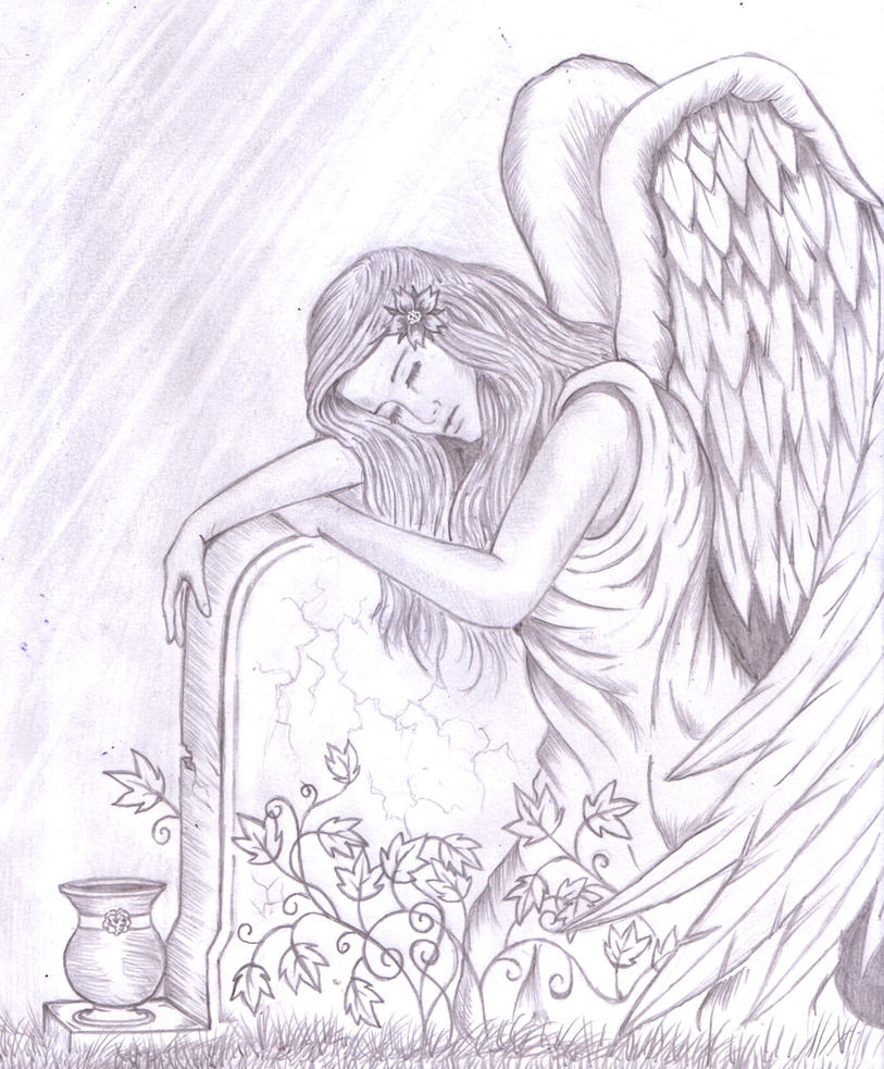 angel embracing a tombstone by shadow3217 on deviantart. Black Bedroom Furniture Sets. Home Design Ideas
