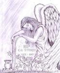 angel grave engraved