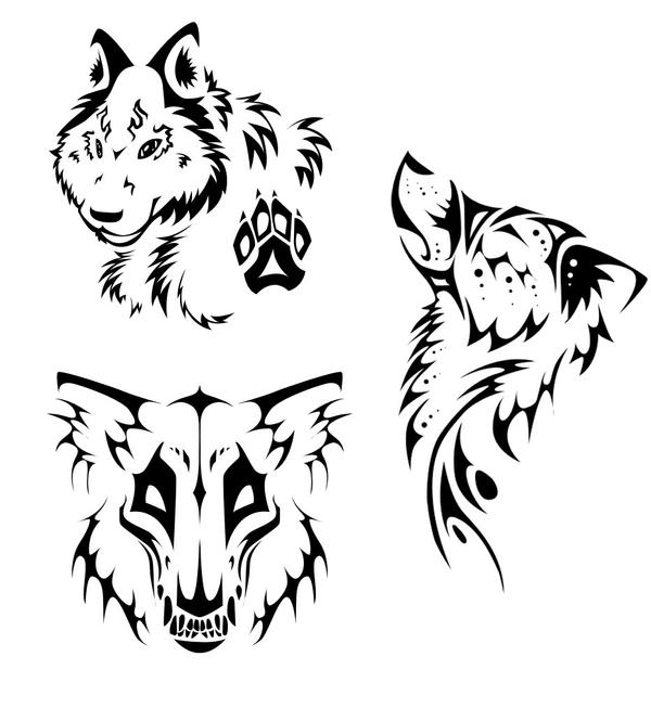 Tribal Wolf Wallpaper: Tribal Wolves By ThePioden On DeviantArt