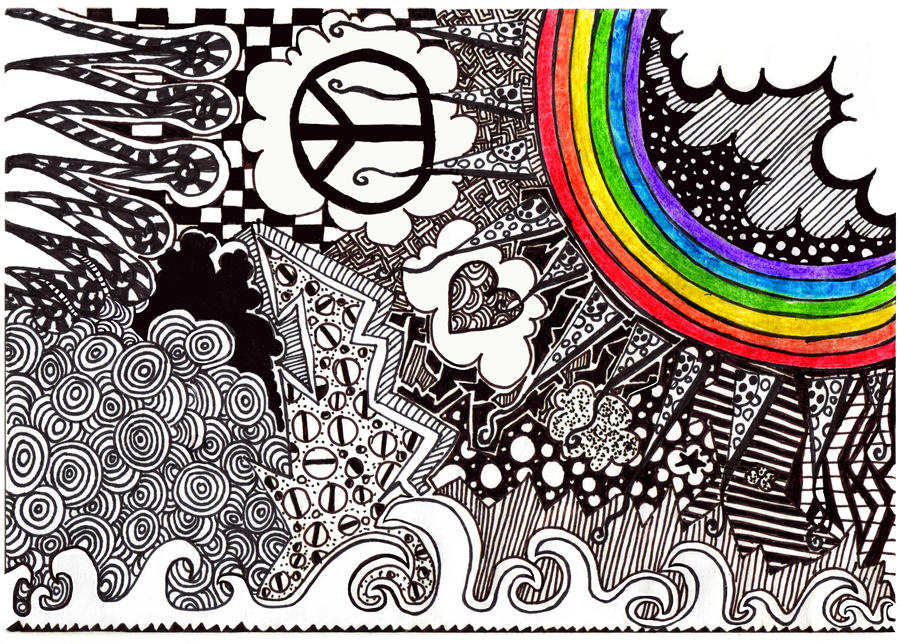Retro - Psychedelic Rainbow by PadfootLivesOn on DeviantArt