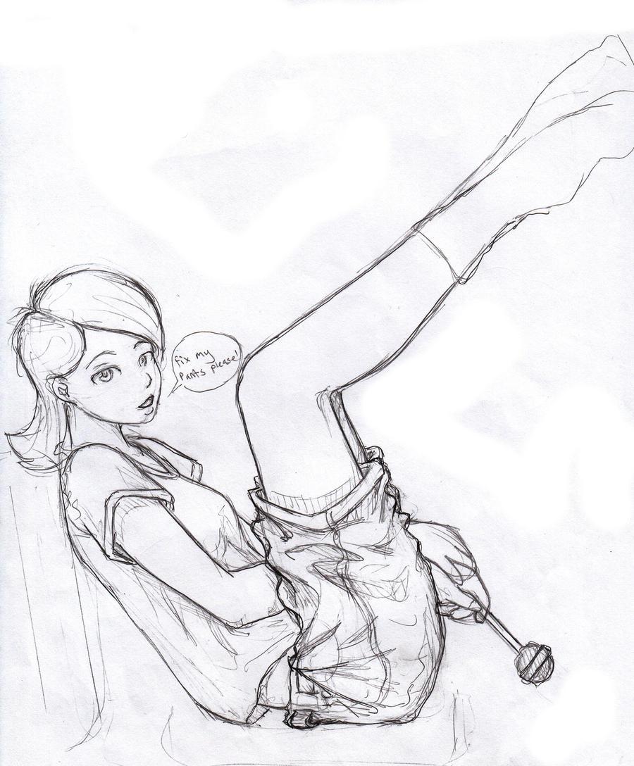 Amane Ootori Sketch 008 by Utilael
