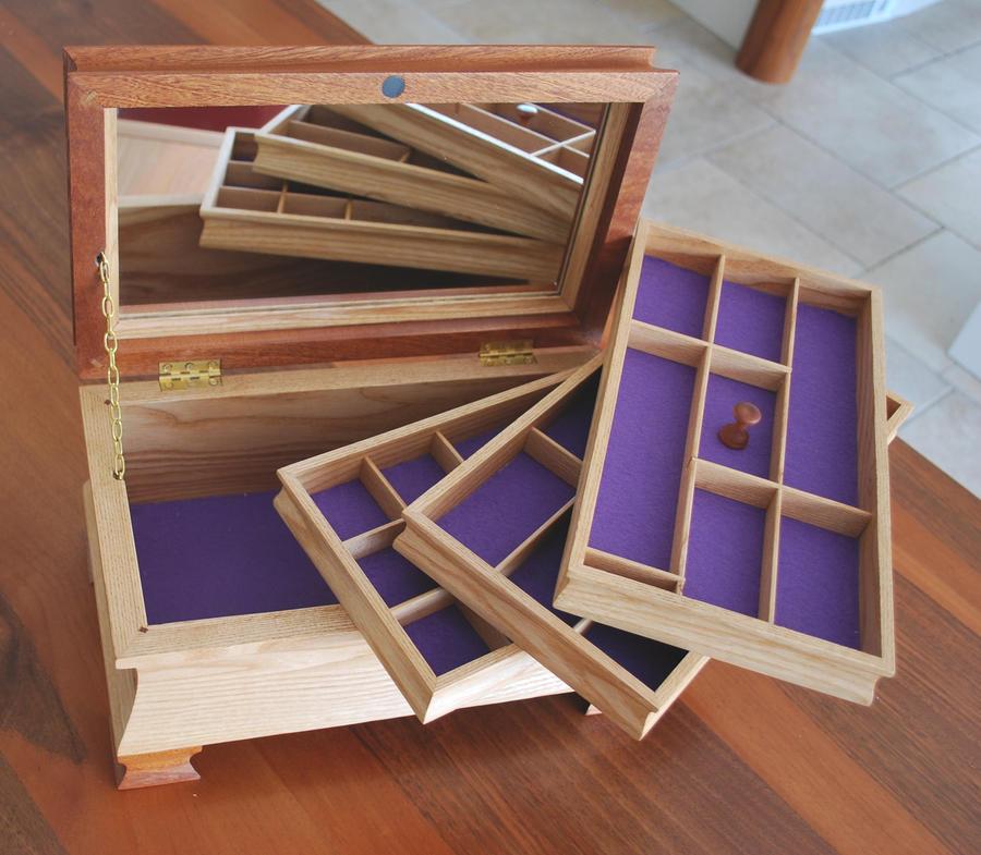 Jewelry box trays