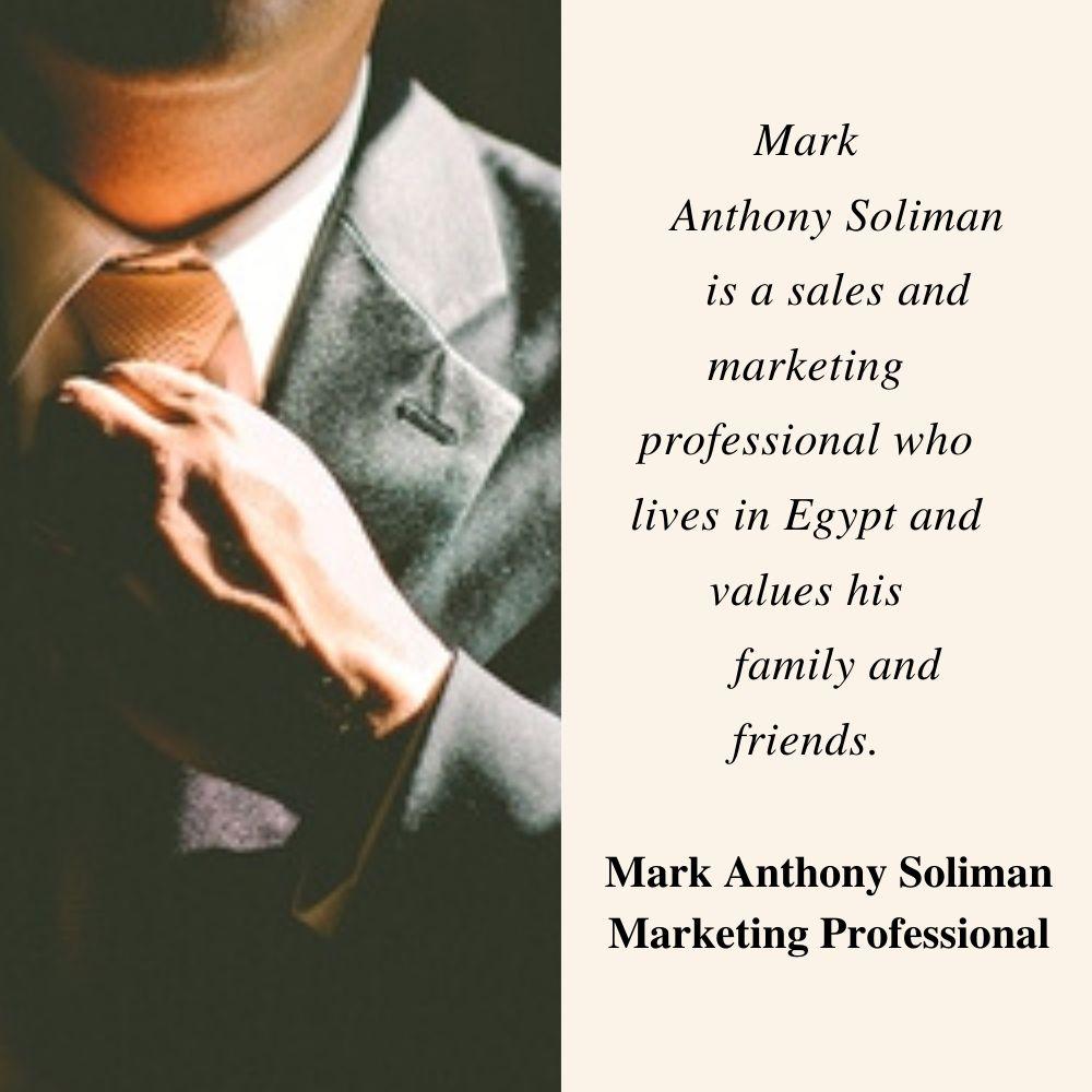 Mark Anthony Soliman   Marketing Professional