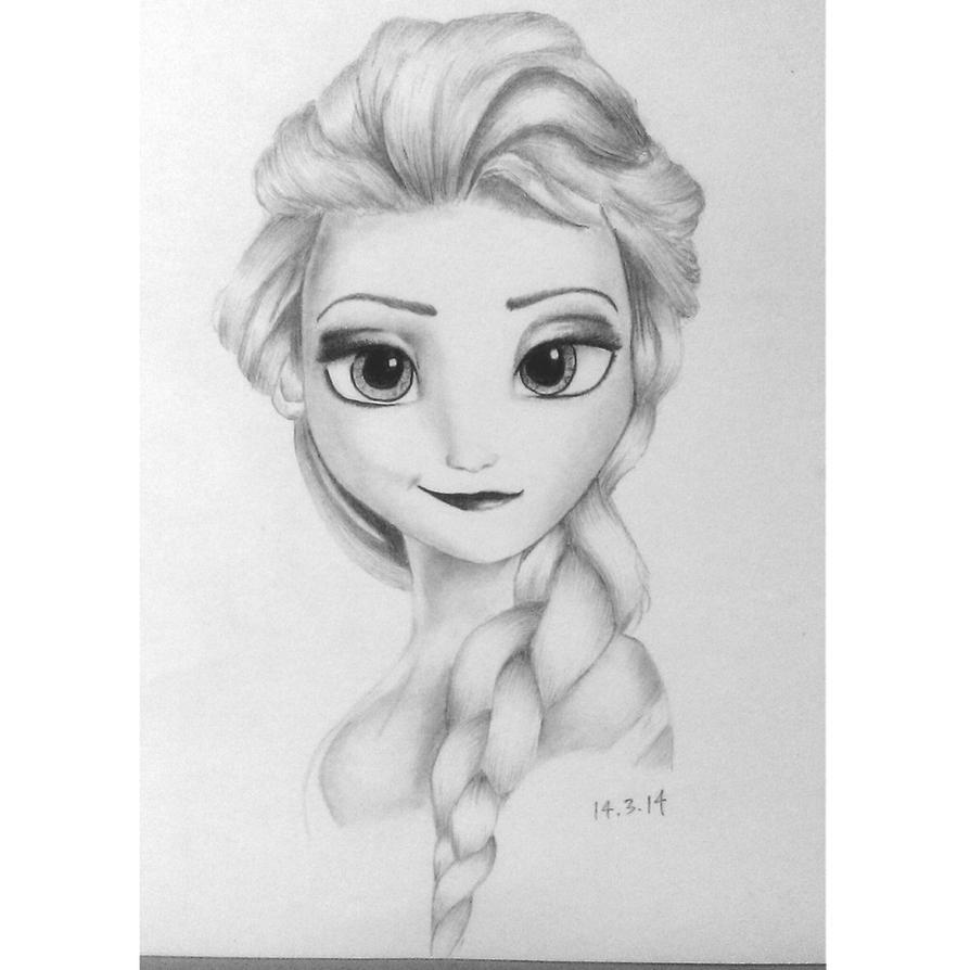 Frozen Elsa Drawing By Mojoballs On DeviantArt