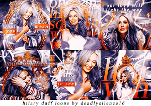 Hilary Duff Icons by deadlysilence16