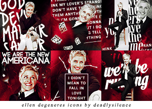 Ellen DeGeneres Icons by deadlysilence16