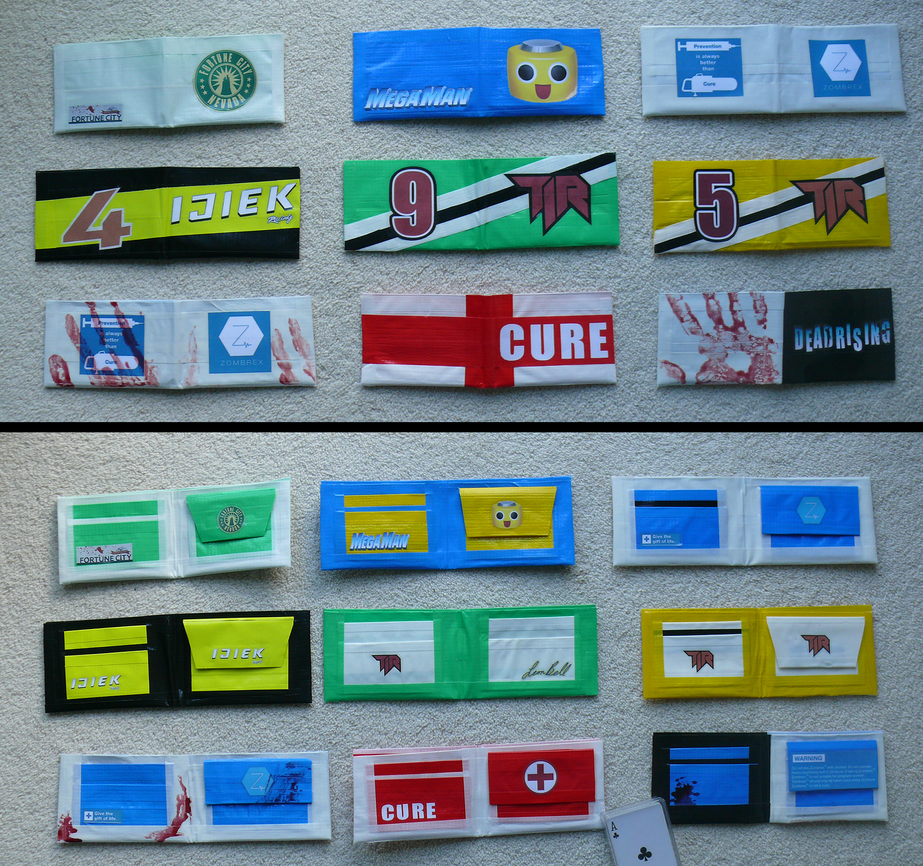Dead rising duct tape wallets by zombiehunt3r on deviantart for Duct tape bedroom ideas