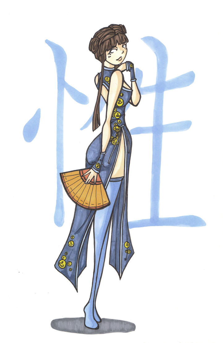 Chinese-girl by LadyAstrogah